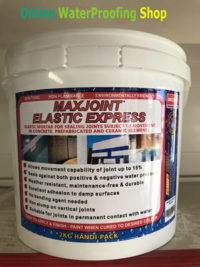 Maxjoint Elastic Express sealing joints in cracked concrete