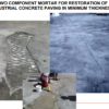 Drizoro Maxpatch thin for repairing damaged concrete surfaces