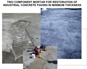 how are repair of industrial concrete floors made, Maxpatch for restoration Industrial concrete paving