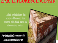 Removal Efflorescence and salts from Masonry