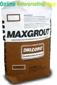 Drizoro Maxgrout is a pourable waterproof anchoring cement