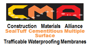 vehicle trafficable waterproof membrane, sealtuff-cementitious-Trafficable Waterproof Membranes, multiple-surface trafficable waterproof membrane