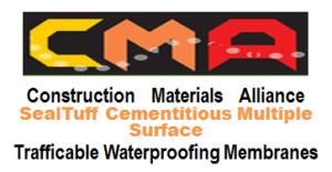 vehicle trafficable waterproof membrane, sealtuff-cementitious-Trafficable Waterproof Membranes, multiple-surface trafficable waterproof membrane