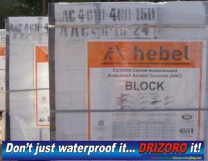 waterproof-hebel-aac-blocks, Waterproofing HEBEL