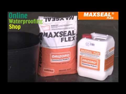 Maxseal waterproof coating, cementitious membrane