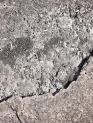 cement-concrete-cancer big crack repair required