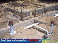 Footings Plumbing protrusions in slab must be sealed to prevent rising damp and termites