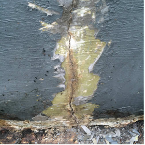 tank cracks from poor structure, reinforced concrete tanks leaking water