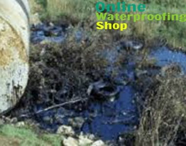 waste oil spill from damaged drum, clean up oil
