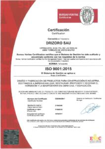 Drizoro ISO 9001 2015
