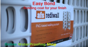afs rediwall easy bond coat to apply finishes, pvc based walling system
