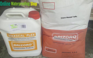 Drizoro Maxseal Traffic kit trafficable membrane for industrial driveways