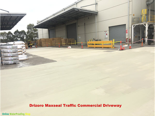 Trafficable Waterproof Coating for concrete floors, Maxseal Traffic AFTER commercial concrete-driveway