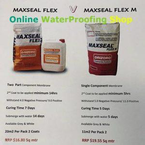 Drizoro Maxseal Flex Comparison to Maxseal Flex M